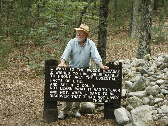Michael Westerfield at Walden Pond